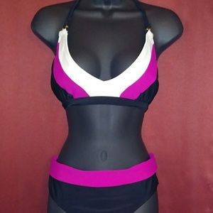 Other - hot pink 2pc swimsuit